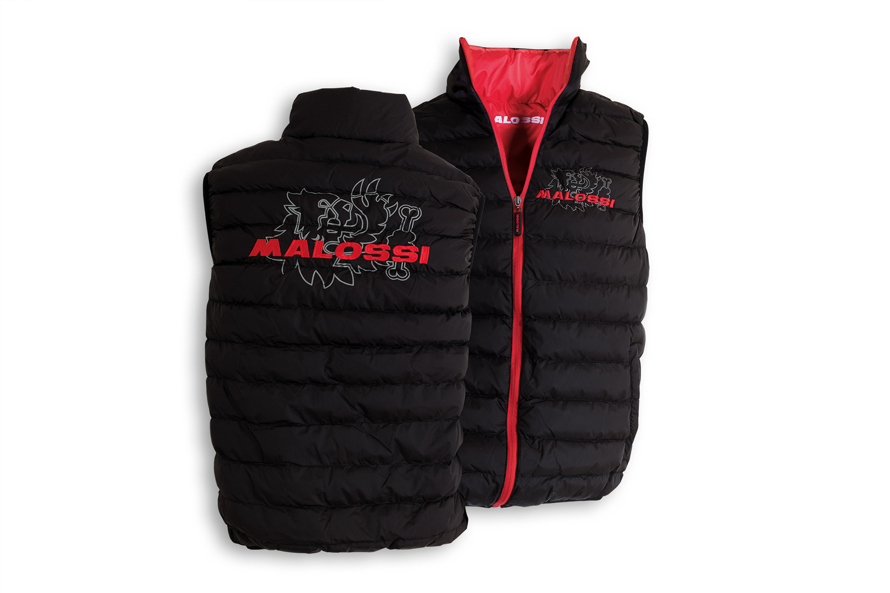 BLACK sleeveless PADDED JACKET MALOSSI (L)