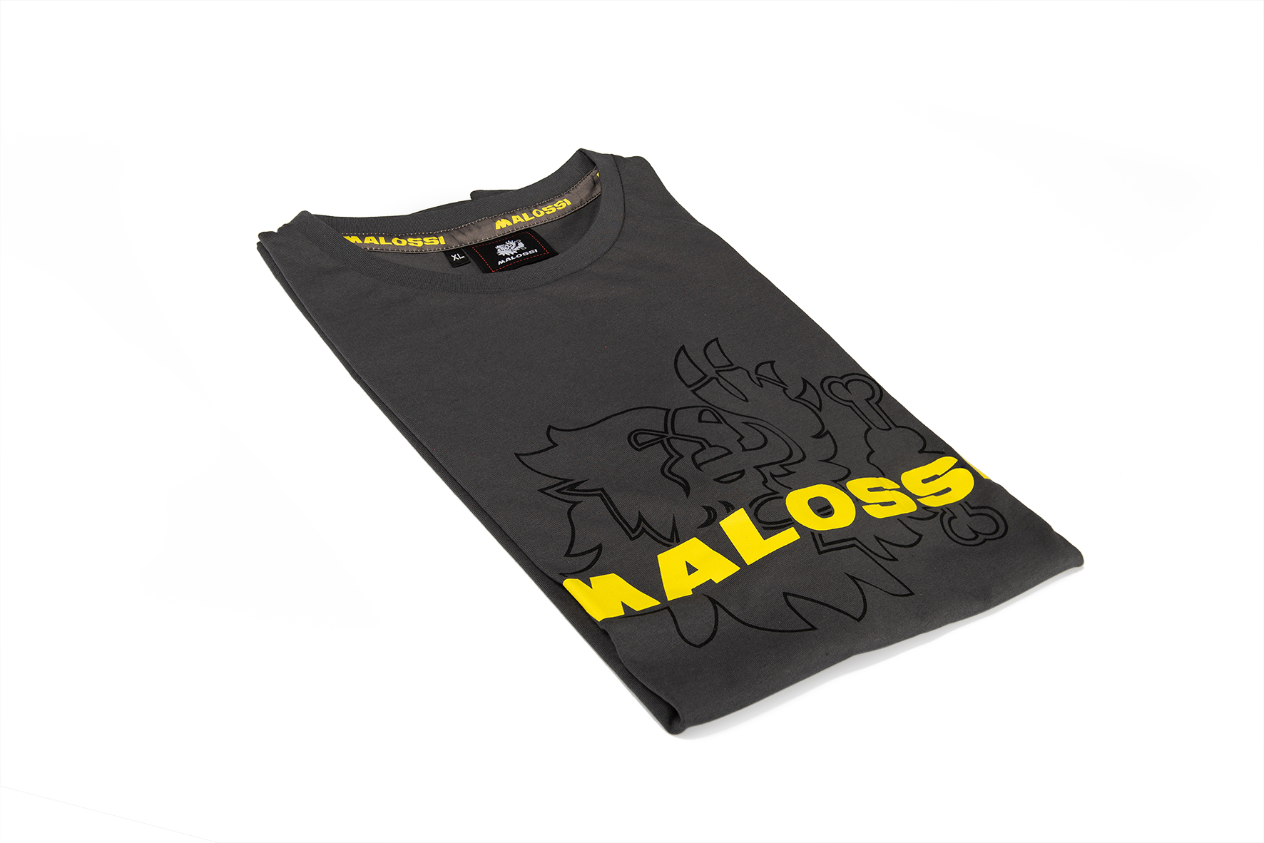 CHARCOAL T-SHIRT with MALOSSI FLOU WRITING ( L )