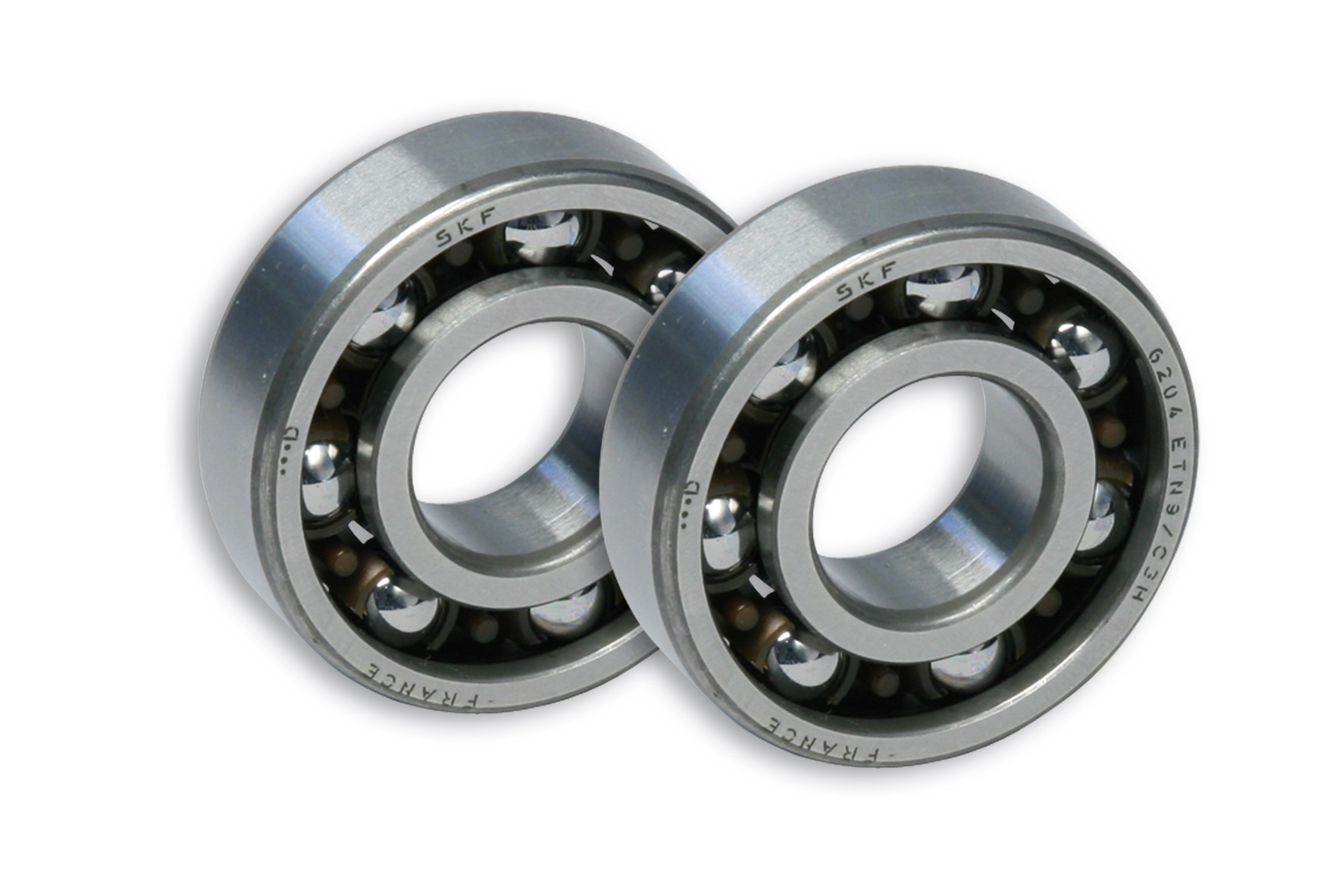 2 ROLLER BEARINGS with BALLS Ø 20x47x14 (C4) for CRANKSH. moto DERBI-scooter MIN./YAM.50