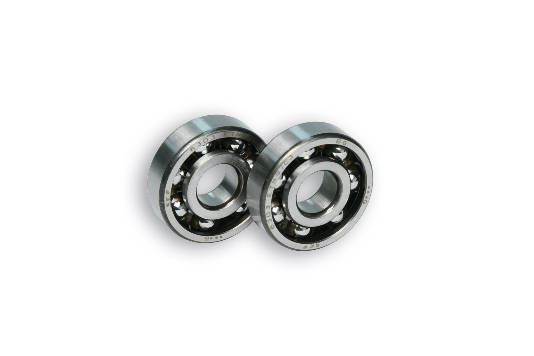 2 ROLLER BEARINGS with BALLS Ø 17x47x14 (C3) for CRANKSH. moto MINARELLI AM